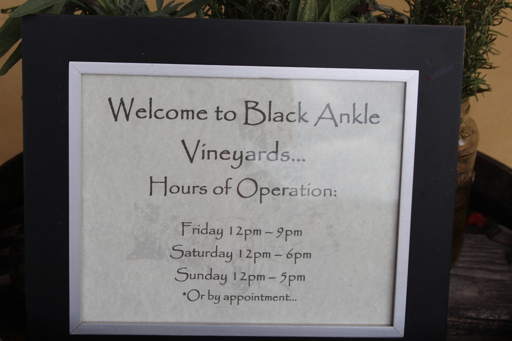 Black Ankle Winery