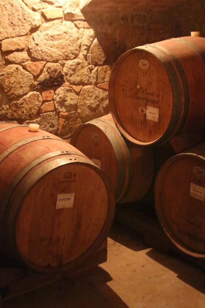 Castello di Amorosa barrels