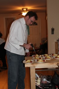 I decided to put a bit of char on the top of the crepes